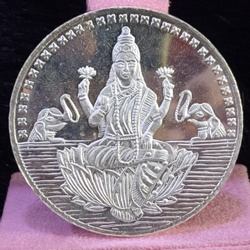 999 Silver Twenty Five Gram Laxmi ji Silver  Coin