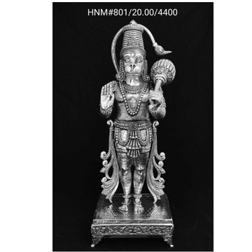 Hallmarked & Pure Silver Idol of Hanuman Ji