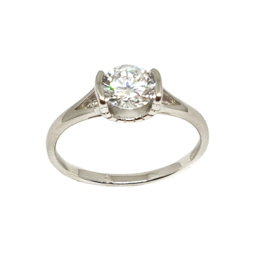 925 Sterling Silver Solitaire Diamond Ring MGA - LRS3364