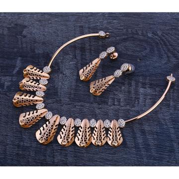 750 Rose Gold Hallmark Gorgeous Necklace Set RN211