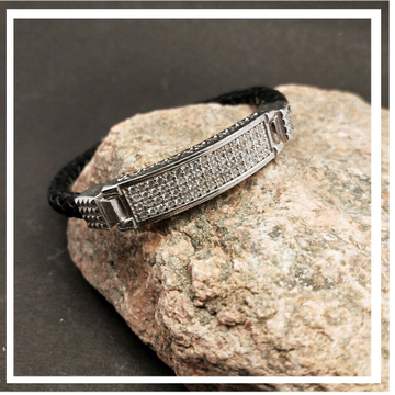 SILVER GENTS FANCY BRACELET