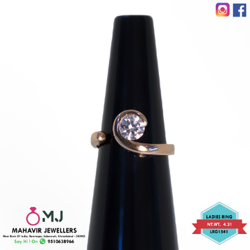 Rose gold ladies ring
