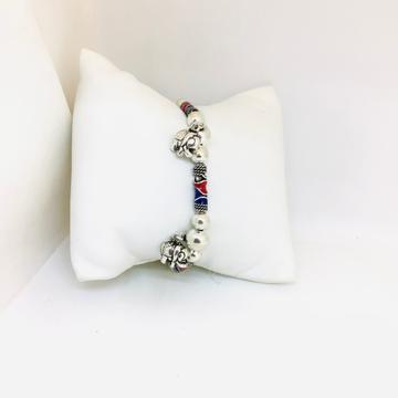 Fancy sterling silver ladies bracelet by