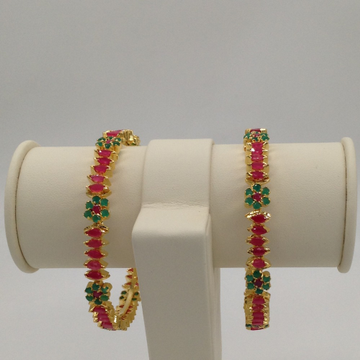 Red And Green CZ Bangles JBG0012