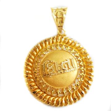 22k gold krishna pendant mga - 002