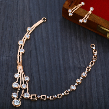 750 Classic  Rose Gold  Women's Necklace Set RN09