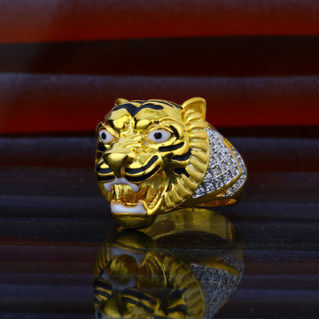 Mens exclusive lion gold fancy ring-mhr42
