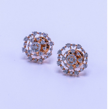 18k  gold diamond earring tops agj-er-180