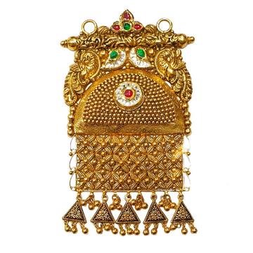 22K Gold Antique Modern Mangalsutra Pendant MGA - MGP0022