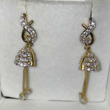 916 Gold CZ Fancy Earring KB-E001