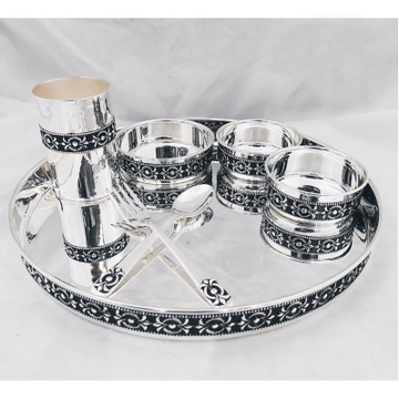 925 Pure Silver Antique Dinner Set in Stylish