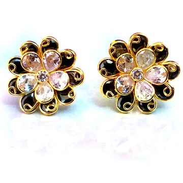 Fancy Color Stone Gold Earrings NJA-E002