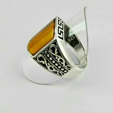 925 Silver Gents Fancy Ring