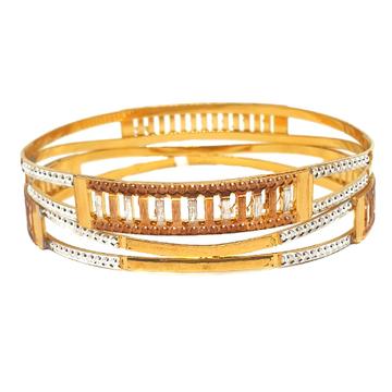 One gram gold plated 2 piece bangles mga - bge0428