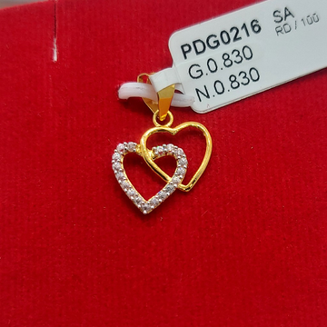 22ct CZ ❤ pendent by Parshwa Jewellers