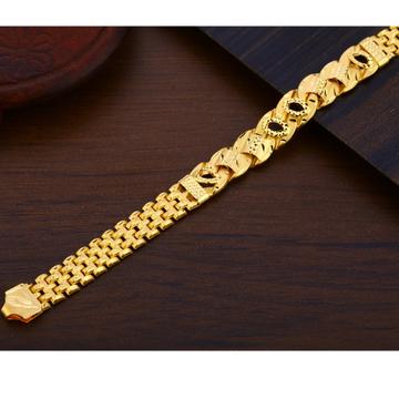 22KT Gold Stylish Men's Plain Bracelet MPB308