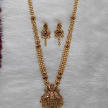Kalkati necklace buti by Shree Kesar Gold Palace