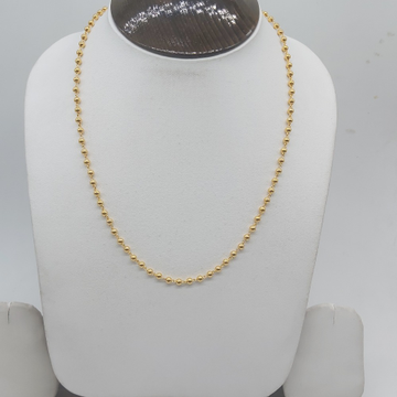 Gold Simple Mala chain in 916 hallmarked by