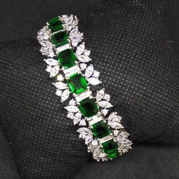 Green diamond designed 1 gram ladies bracelet by