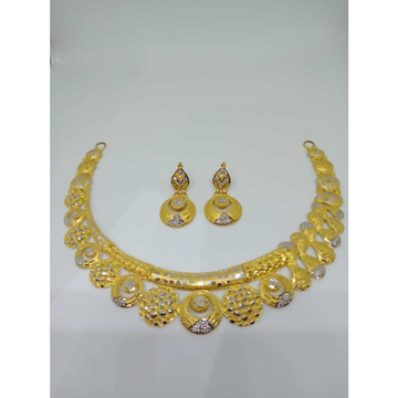 916 gold antique jadtar necklace set bj-n11