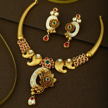 916 CZ Gold Hallmark lightweight Bridal Necklace Set