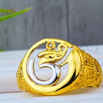 916 Gold Om Jents Ring GR-0006