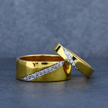 Engagement 22kt Fancy Couple Band Gold Ring-CR13