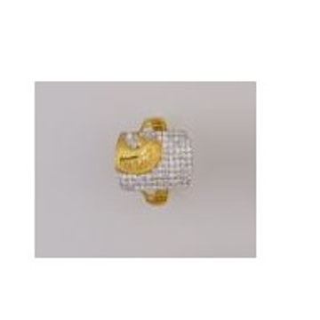 22K/916 Gold CZ classic ring by