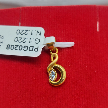 22 ct#cz#pendent by Parshwa Jewellers