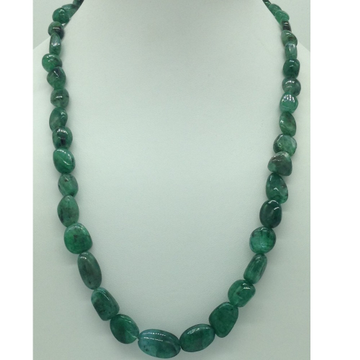 Natural Green Bariels Oval Tumbles1Layers Neckla...