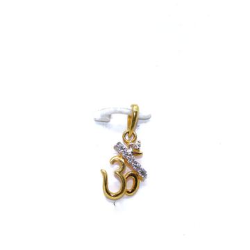22 KT / 916 Gold Plain Om Pendant For Universal PN... by