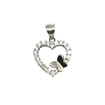 925 Sterling Silver Heart Shape Pendant MGA - PDS0069
