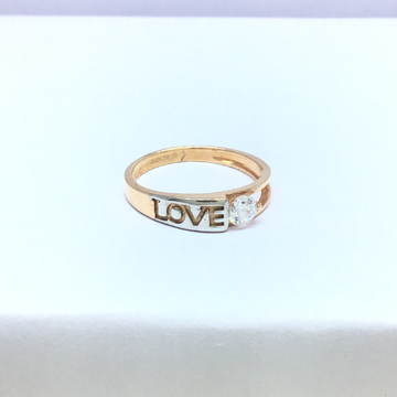 fancy rose gold ladies ring by