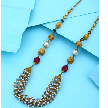 916 Gold Antique Design Hallmark Mala