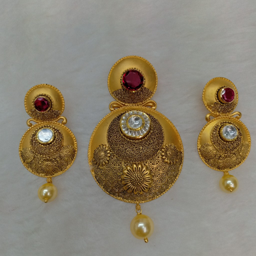 22kt gold antique pendant set aps-014
