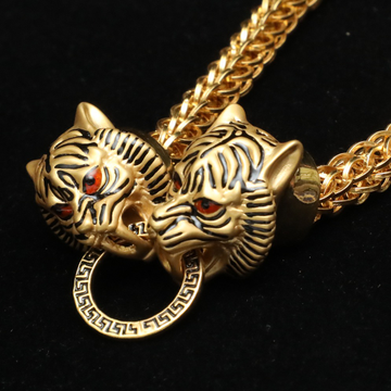 916 Gold Lion Design Lucky Bracelet For Men ML-B003