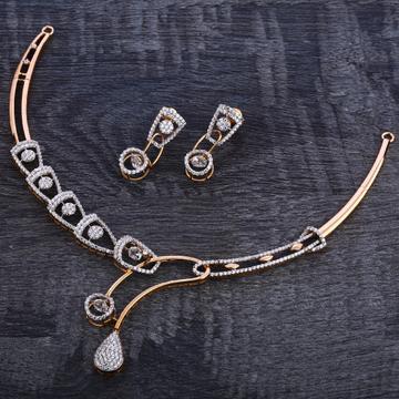 750 Rose Gold Hallmark Women's Necklace Set RN115