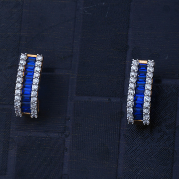 916 CZ blue Traditional Design Earring