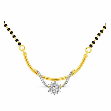 18K Gold Real Diamond Mangalsutra MGA - RMS007