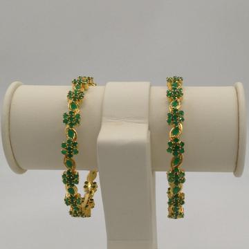 Green cz flower bangles jbg0018