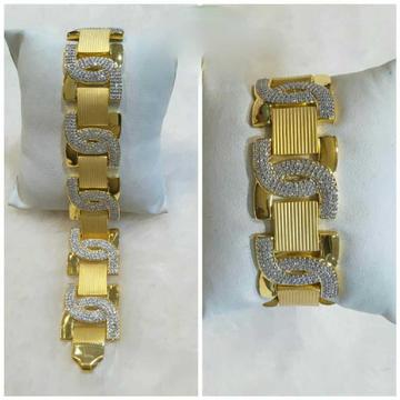 22k Gents Fancy Heavy Bracelet G-9604