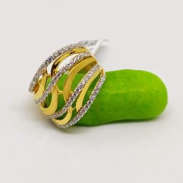 916 Gold CZ classic Ladies Ring RH-LR61