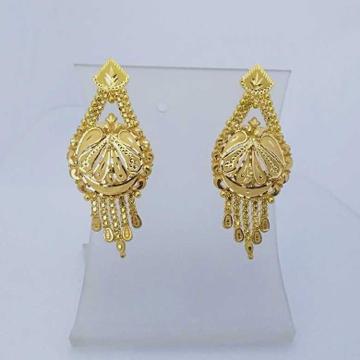 760 gold light weight fancy earrings rj-b008