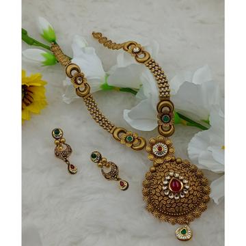 916 hallmark wedding long gold  necklace set by Ranka Jewellers
