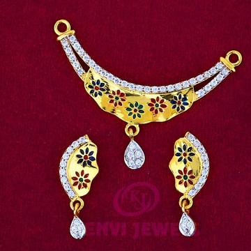 916 Gold Mangalsutra Pendal with Butti MSP-014