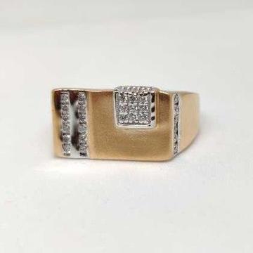 18k men's rose gold rings NO-31303