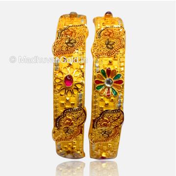 22K Gold Atractive Bangles (Kada)