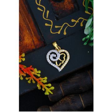916 Gold Heart Shape CZ Pendant JJ - P001