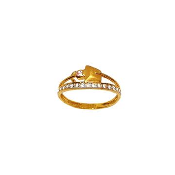 22K Gold Matte Finish Designer Ring MGA - LRG1123