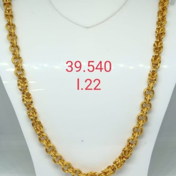 916 gold indo gents chain by